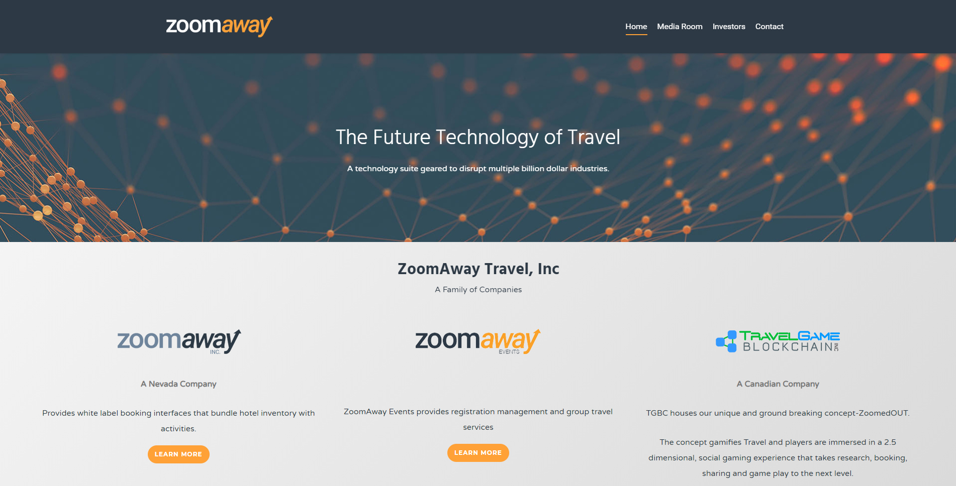 ZoomAway Announces Launch Of New Corporate Website
